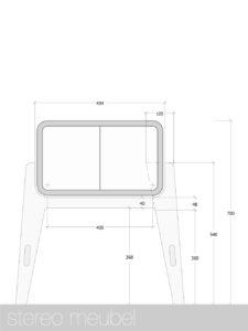 stereo-meubel tekening